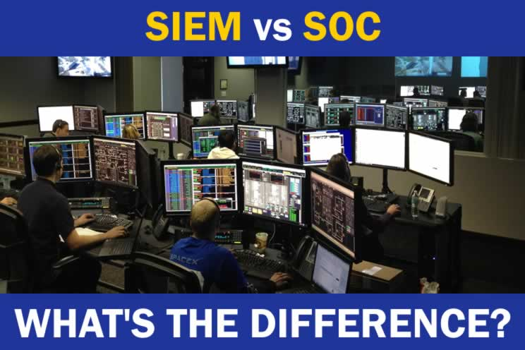 people working in a SOC looking at dashboards